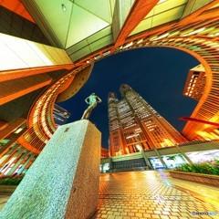 都庁 俯角の視点 - MADOKA
