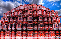 ジャイプールの立て看板風 風の宮殿