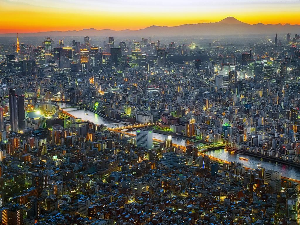 スカイツリーからの富士ゆう景色