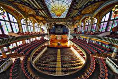 カタルーニャ音楽堂の俯瞰風景