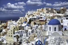Aegean island of Santorini