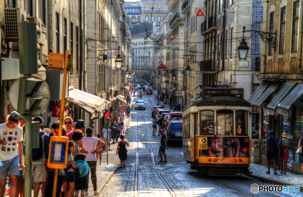 人の交わる地と街 リスボン/市街地の風景