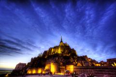 ナイト ・ モンサンミッシェル - 夜の城塞聖堂