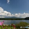 雲纏う富士山