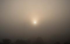 濃霧の日の出