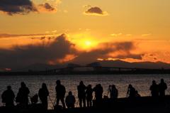 舞浜で見た富士山夕景 #6  そんな時間・・・