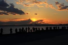 舞浜で見た富士山夕景 #5  それっぽくね・・・