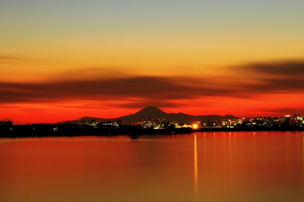 葛西臨海公園で見た富士山夕景 #9