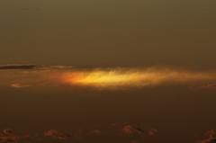 舞浜で見た富士山夕景 #3  彩雲!