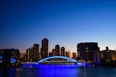 日没に輝く永代橋(令和ver)