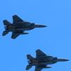 射水市合併10周年記念飛行(F15戦闘機)