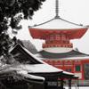 雪の根本大塔