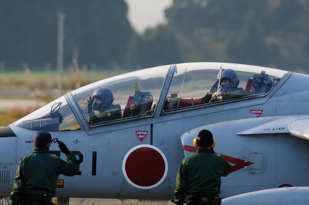 T-4 opening flight