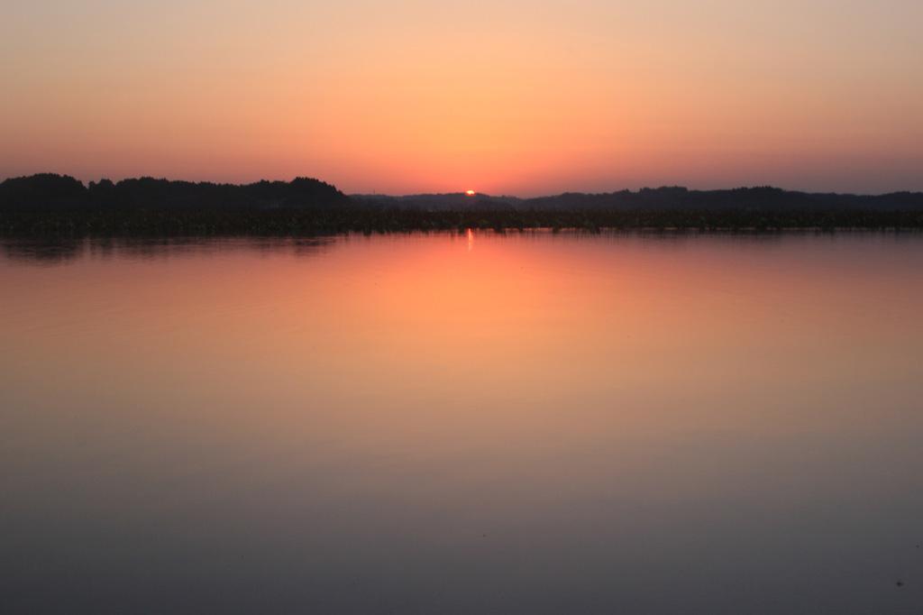 内沼の夕景