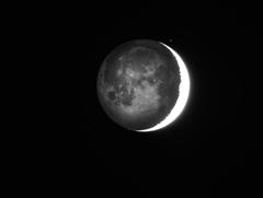 地球照 月齢3.0 190109