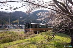 桜と共に~姫新線~