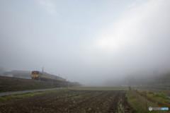 朝霧とスーパーいなば