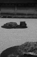 京都 竜安寺石庭 静かにして宇宙8-2「海」