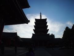 浅草寺ブラブラ8-6「五重塔」