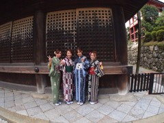 京都 地主神社4-1「着物女子」