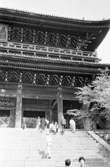 40年ほど前の京都 知恩院三門風景8-1「三門」