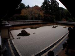 京都 竜安寺石庭 静かにして宇宙8-3「局」