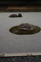 京都 竜安寺石庭 静かにして宇宙8-6「安息」
