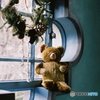 窓辺でクリスマスを待つ