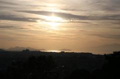 城郭より琵琶湖を望む
