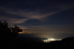 高ボッチ高原より、諏訪市の夜景