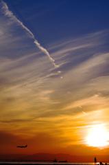夕日の軌跡