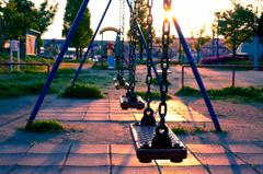 夕暮れの公園⑥