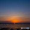 サロマ湖の夕陽 4月 ⑥
