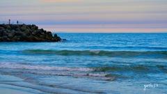 写真句: 海の夕暮れ