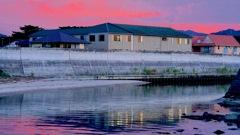 写真句:河口の夕暮れ:NTW290