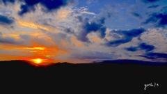 写真句:日が沈む
