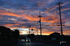 写真エッセイ:夕暮れ空のスペクタクル1