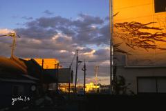 写真句:夕色の街2