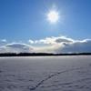 冬・足跡・お日様