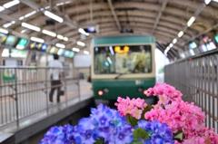 江ノ電藤沢駅にて