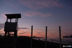 鵠沼海岸の白杭