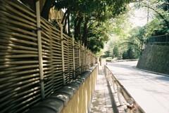 竹垣の歩道