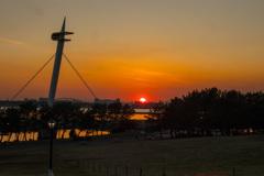 葛西臨海公園の入り日
