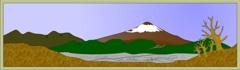 初冬の富士 PC画