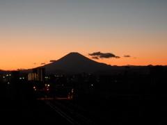 日没の富士