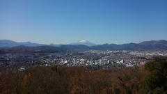 弘法山から富士を望む