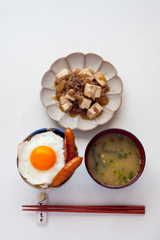 肉豆腐定食