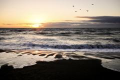 日が沈むころ