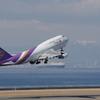 タイ国際航空(HS-TGZ)747-4D7@セントレア