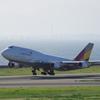 アシアナ航空(Hl7618)747-400@セントレア